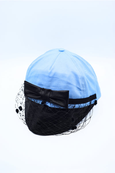 LIGHT BLUE VEIL CAP