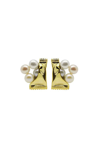 FRESHWATER PEARL SWEETS GOLD EARRINGS