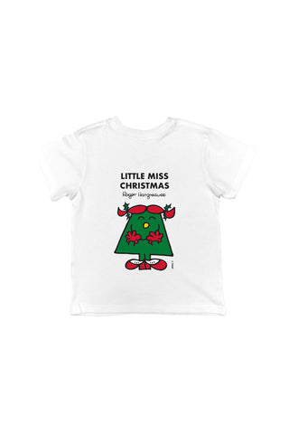 LITTLE MISS CHRISTMAS PERSONALISED CHILDREN'S T-SHIRT