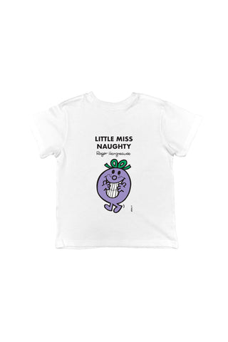 LITTLE MISS NAUGHTY PERSONALISED CHILDREN'S T-SHIRT