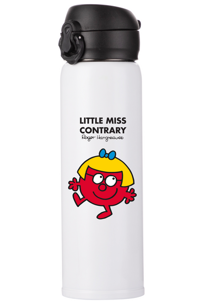 LITTLE MISS CONTRARY PERSONALISED FLASK