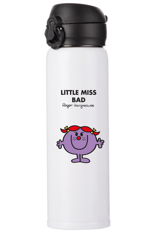 LITTLE MISS BAD PERSONALISED FLASK