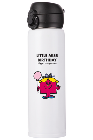 LITTLE MISS BIRTHDAY PERSONALISED FLASK