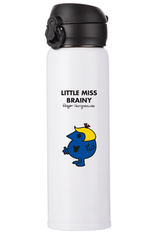 LITTLE MISS BRAINY PERSONALISED FLASK