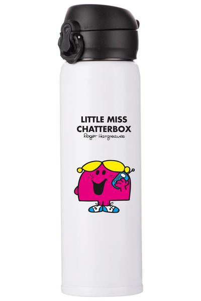 LITTLE MISS CHATTERBOX PERSONALISED FLASK