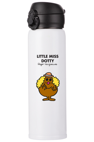 LITTLE MISS DOTTY PERSONALISED FLASK