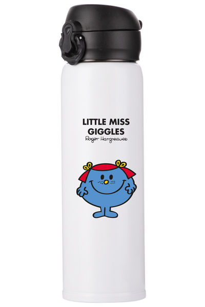 LITTLE MISS GIGGLES PERSONALISED FLASK
