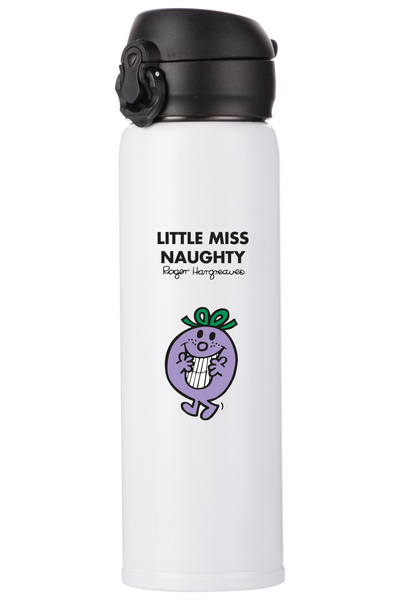 LITTLE MISS NAUGHTY PERSONALISED FLASK