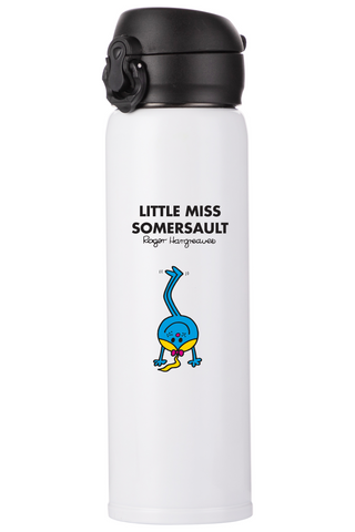 LITTLE MISS SOMERSAULT PERSONALISED FLASK