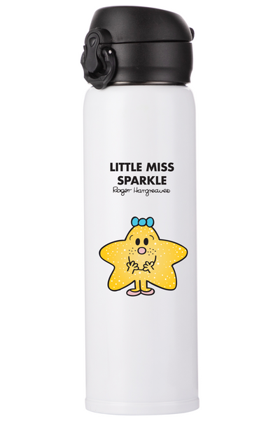 LITTLE MISS SPARKLE PERSONALISED FLASK