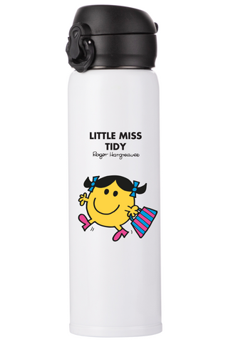 LITTLE MISS TIDY PERSONALISED FLASK