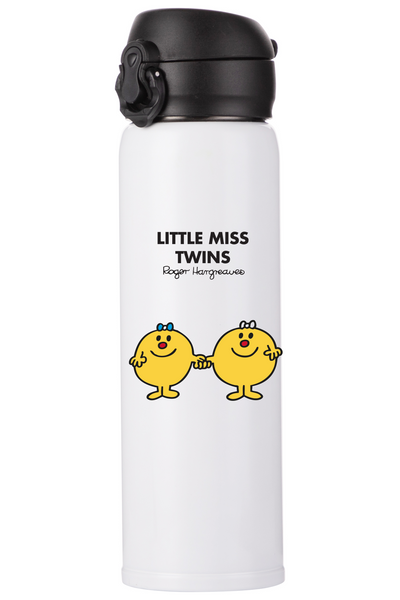 LITTLE MISS TWINS PERSONALISED FLASK