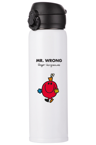 MR. WRONG PERSONALISED FLASK