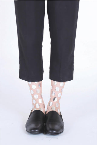 SILVER DOTS SOCKS
