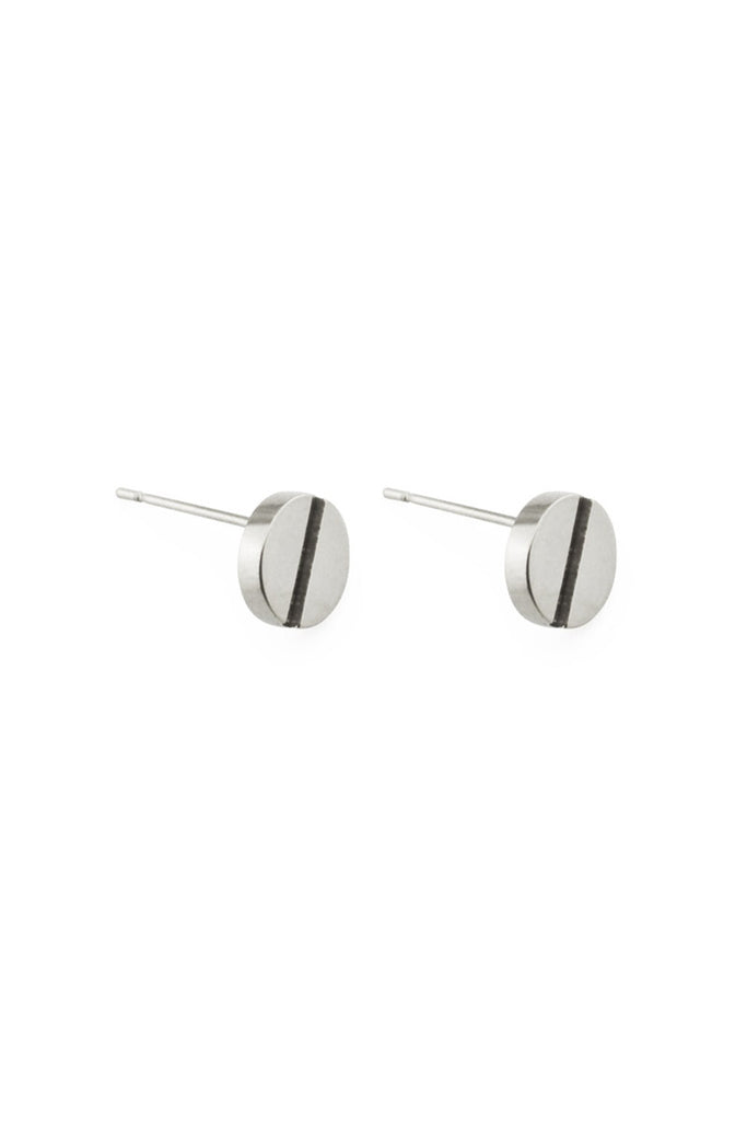 SILVER SCREW EARRINGS