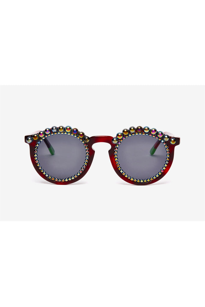 PETROL FAUX PEARLS TORTOISE SHELL SUNGLASSES