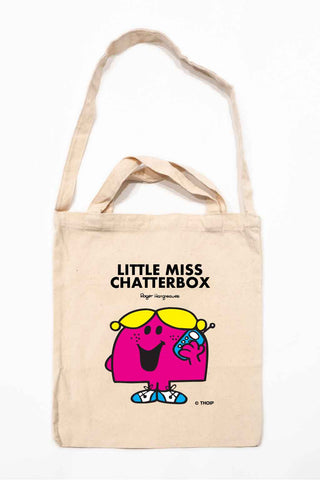 LITTLE MISS CHATTERBOX PERSONALISED TOTE BAG