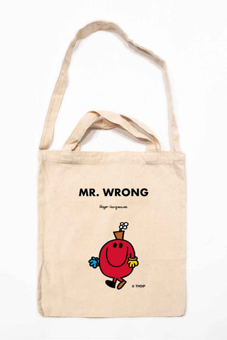 MR. WRONG PERSONALISED TOTE BAG