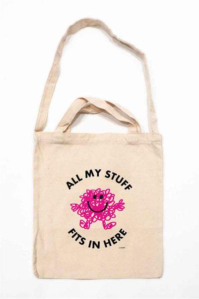 """ALL MY STUFF FITS IN HERE"" MR. MESSY TOTE BAG"