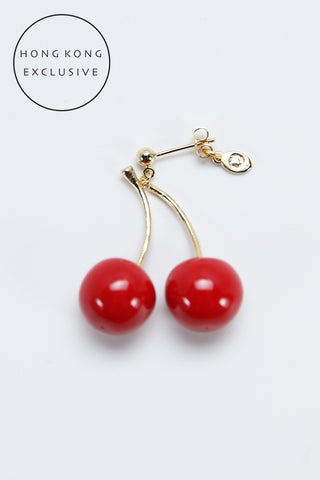 TWIN CHERRIES SINGLE EARRING