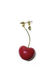 HEART CHERRY SINGLE EARRING