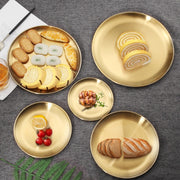 European Gold Dining Plates