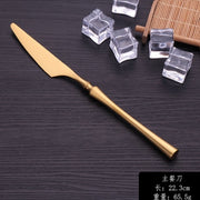 4pcs/lot Gold Portable Matte Cutlery