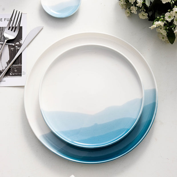 Mountain Scenery Ceramic Dinner Plate