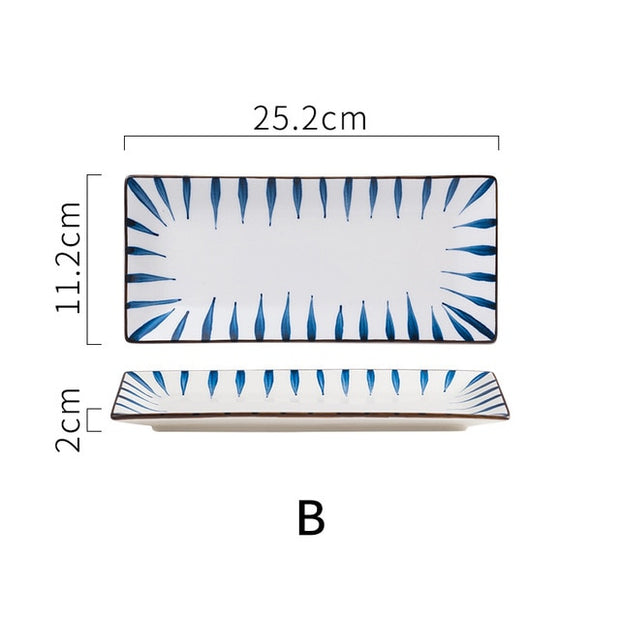 Rectangular Ceramic Dinner Plates