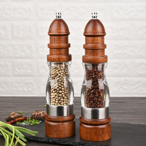 Wooden Salt and Pepper Grinder Set