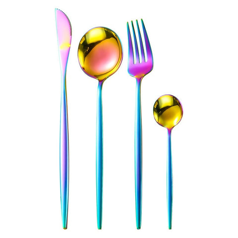 Stainless Steel Golden Cutlery Set