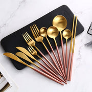Pink Gold Western Cutlery Set