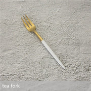 White Gold Cutlery Set