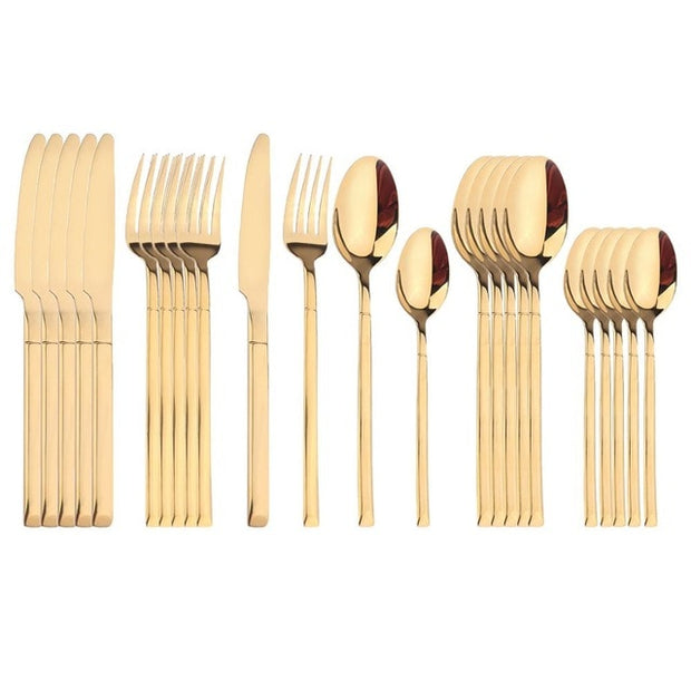 24Pcs/Set Stainless Steel Cutlery Set