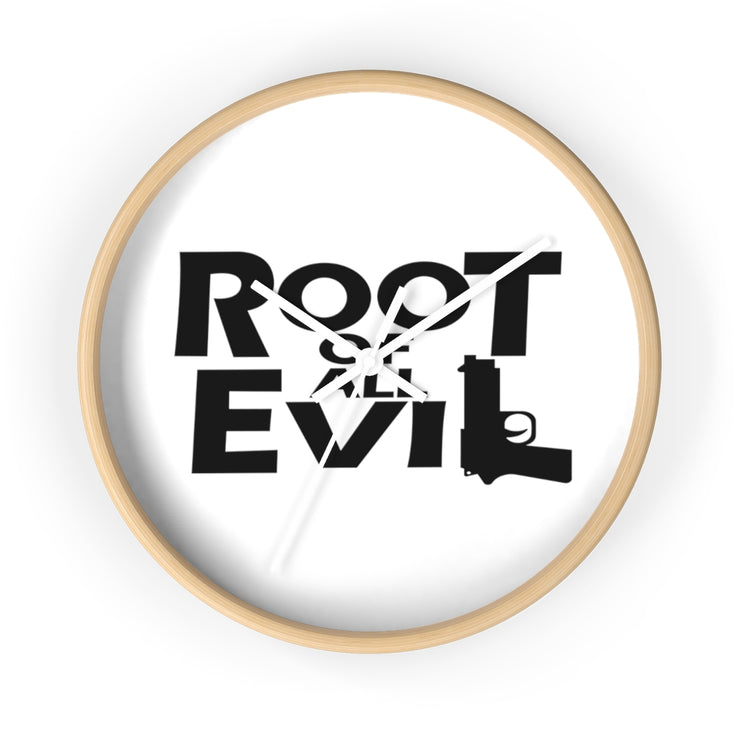 Root Of All Evil Wall clock