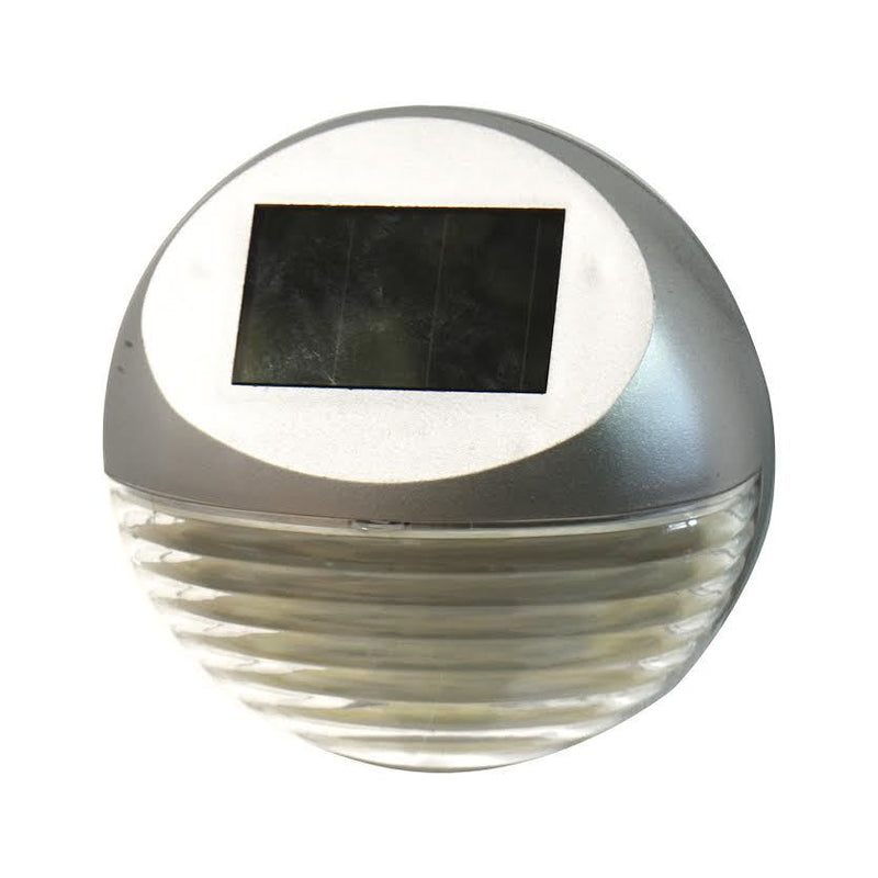 Dual LED Solar Fence Light Silver