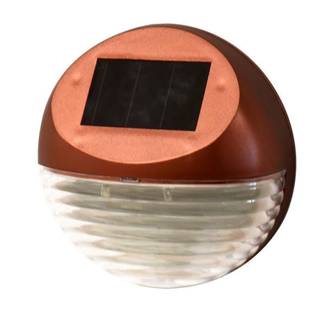 Dual LED Solar Fence Light Bronze