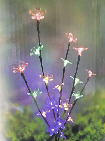 20 Led Flower Multi Coloured Garden Decoration