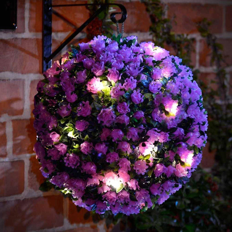Purple Solar Topiary Ball