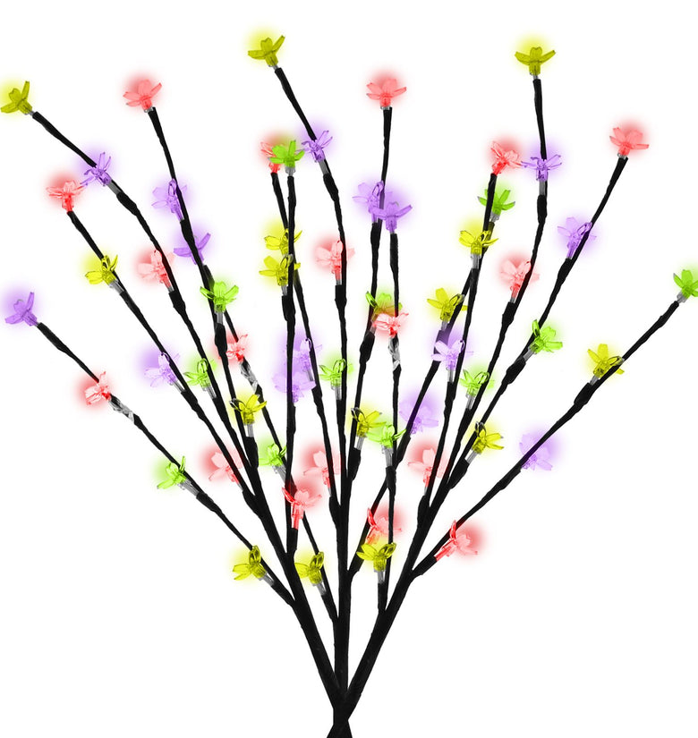 60 LED Multi Coloured Solar Branch Lights