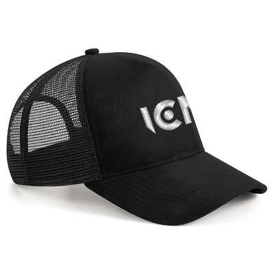 Ibiza Club News White Embroidered ICN Logo Suede Snapback Trucker Cap