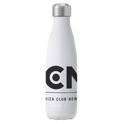 Ibiza Club News Black ICN Logo Insulated Stainless Steel Water Bottle