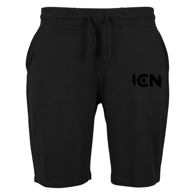 Ibiza Club News Black ICN Logo Terry Shorts