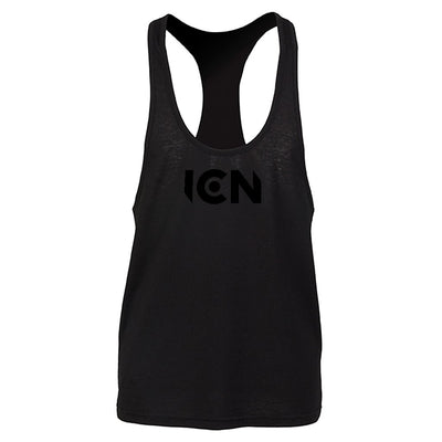Ibiza Club News Black ICN Logo Men's Muscle Vest