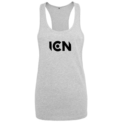 Ibiza Club News Black ICN Logo Women's Loose Fit Vest