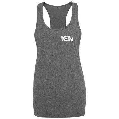 Ibiza Club News White ICN Logo Women's Loose Fit Vest