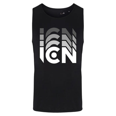 Ibiza Club News White ICN Trail Logo Men's Contrast Training Vest