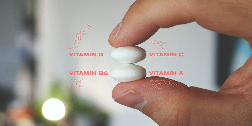 Two pieces of Vitamin Gum