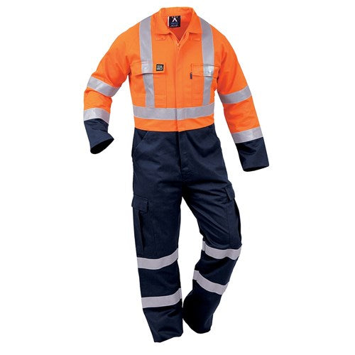 Flame-Retardant Taped Cotton Overalls