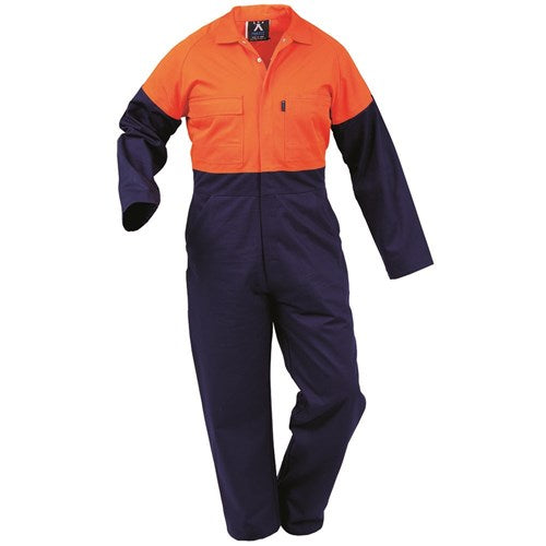 Long Sleeve Day Only Domed Cotton Overalls